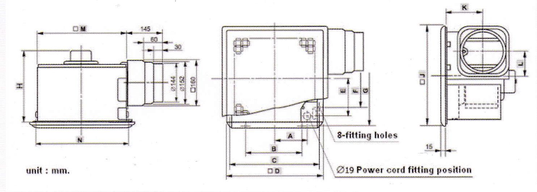 bản vẽ lắp đặt quạt hút âm trần VD-18z4t5