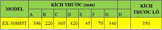 kích thước quạt thông gió EX-30SH5T